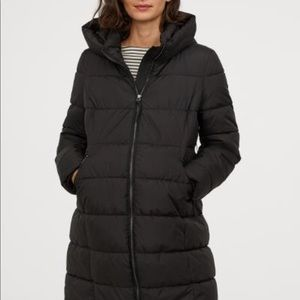 H&M MAMA black maternity puffer coat